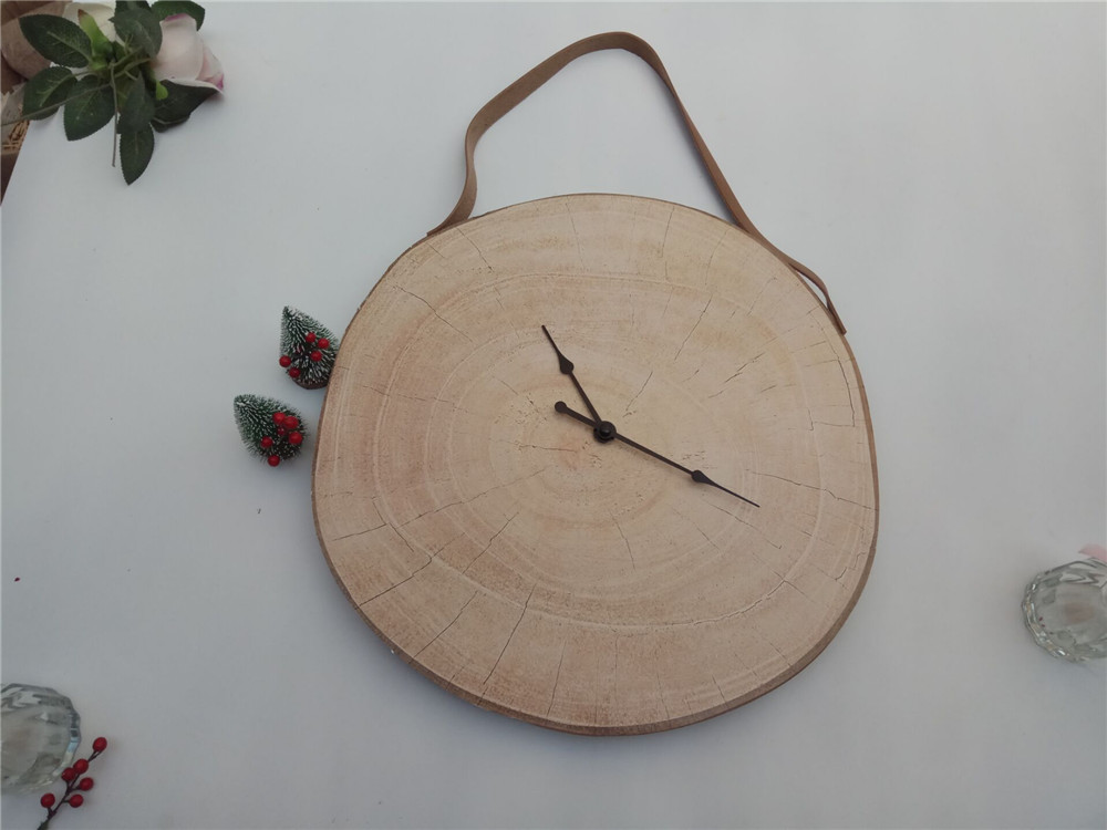 cheap simple wooden clock