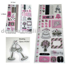 Wedding epoxy sticker set