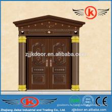 JK-C9038 жилая декоративная резьба медная передняя двойная дверь