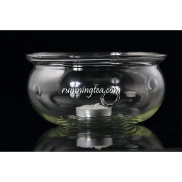Runde Form Glas Teekanne Kerze Wärmer