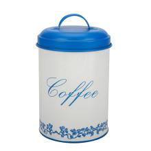 Conjunto de vasilha de açúcar de chá branco e azul
