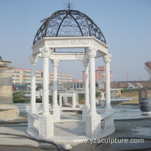 Outdoor Large Size White Marble gazebo