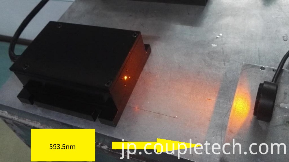 Yellow Laser at 561nm or 593.5nm with Low Noise