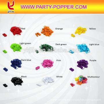Forma del confeti del papel de tejido del confeti del color de Pantone de encargo en redondo y rectángulo