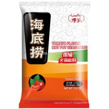 Halal certifié Sauté de tomate assaisonnement chaud dans une casserole double