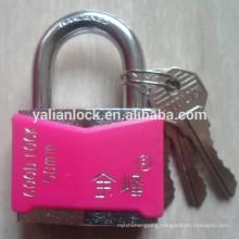 short shackle chrome painted 50mm padlock