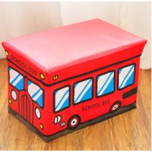 PU couro crianças armazenamento fezes com vermelho cor