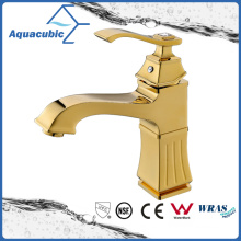 Polished Gold Brass Basin Water Tap Faucet