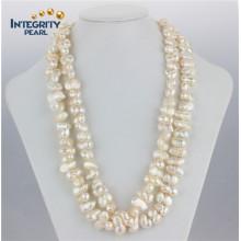 Modische Erdnuss-natürliche Form Perlen-Halskette