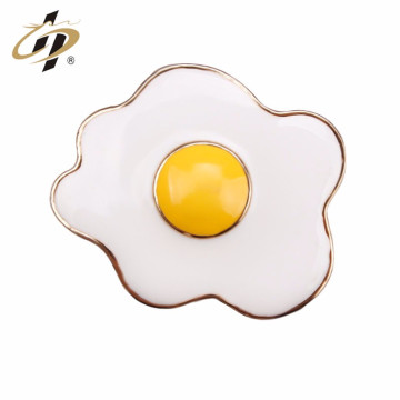 China factory wholesale new design products egg shape brass enamel pin lapel