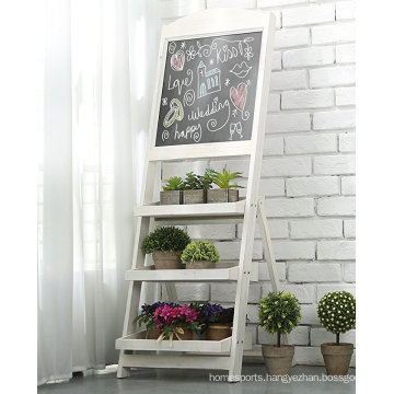 Solid Wood magnetic Chalkboard stand Message Board Easel Folding Shelves