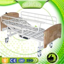 Full length side rails rehabiltation electric hospital bed remote control