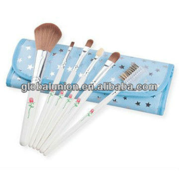 Blue Flower Makeup Brush Set