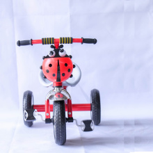 Yellow steel frame baby three wheel tricycle for children