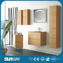 2015 New Wood Veneer Wall-Mounted Lowes Bathroom Vanity Cabinets
