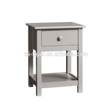 Factory direct cheap simple design wood nightstand bedside table for wholesale