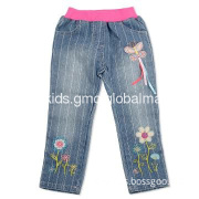 Kids wear wholesale Boys Boy cotton jeans with print and embroidery.