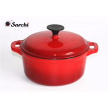 6.5 Quart Covered Enealled Cast Iron Dutch Oven - Rouge