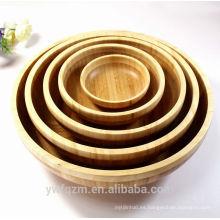 Tazón de fuente de ensalada de madera hecho a mano al por mayor
