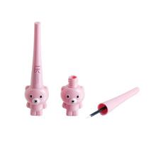 Popular Wholesale eyeliner tube cute cartoon bear shaped black empty eyeliner pen tube with brush