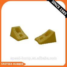 Cuña de rueda de carro y carro de plástico de 100 mm de plástico 100% reciclado amarillo