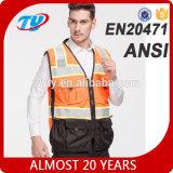 high visibility reflective orange safety vest fluorescent safety jacket