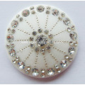Plastic Umbellate Buckle with Rhinestone