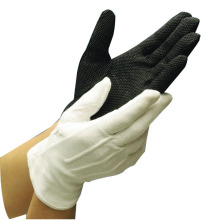 White Parade Cotton Gloves With Ribs