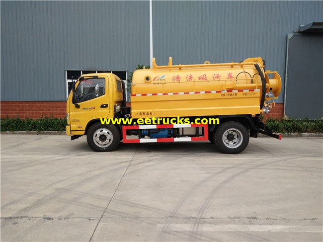Dongfeng 5000L Cleaning Fecal Suction Trucks