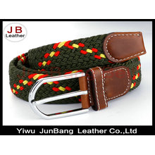 Woven Elastic Cotton Canvas Leather Stretch Blet