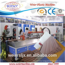 pvc wpc lesco ecological wood plastic ceiling floor production line