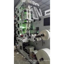 Máquina de impressão flexográfica com monitor de vídeo 6 cores Ce