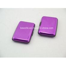 Caso de cartão de banco de alumínio colorido / caso de cartão de crédito