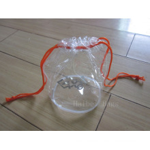 Eco-Friendly Clear Drawstring PVC Gift Bag (hbpv-58)