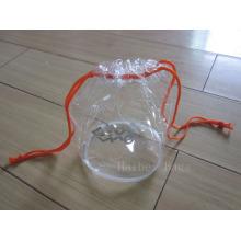 Экологичный Clear Drawstring ПВХ сумка для подарков (hbpv-58)
