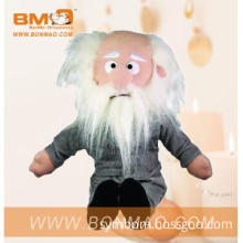 Lovely Plush Toy Doll Old Man with White Hair and Clothes