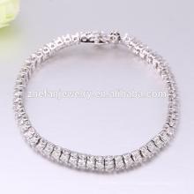 Bracelets de pierre zircon AAA bon marché plaqué rhodium bracelet