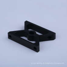 Abrazadera de manguera de aluminio anodizado negro