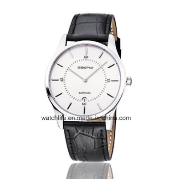 Cheap Sapphire Watch Fashion Watch Leather Strap Quartz Couple Wrist Watch