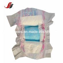 Super Soft Babywindeln, Magic Tape und Baumwolle Backsheet mit elastischer Taille Babywindel in hoher Absorption