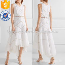 Asymmetric Embroidered Cotton Midi Dress Manufacture Wholesale Fashion Women Apparel (TA4090D)