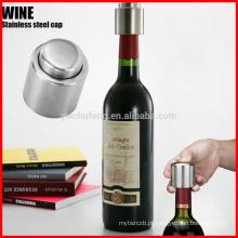 Tampão de garrafa selado vácuo de aço inoxidável esperto do bujão da garrafa do armazenamento do vinho vermelho