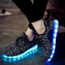 Recarregável luz led sapatos tênis e LED Light Up Kids sapatos com diodo emissor de luz