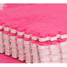 2015 hot sale promotional soft plush floor mat, 100% food grade material EVA flooring mat