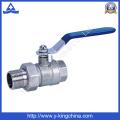 Válvula de bola de latón forjado con la unión usada en agua (YD-1003)