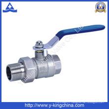 Vanne à bille en laiton forgé avec Union utilisée dans l'eau (YD-1003)