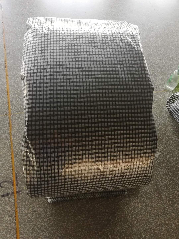 black grid woven film packing