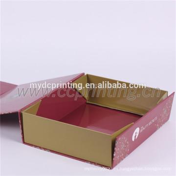 Caja de cartón plegable del papel de regalo de encargo de la impresión
