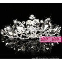 Moda de cristal de tiara de coroa para crianças Índia