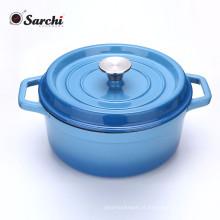 Cafeteira de ferro fundido esmaltado Amazon Hotsale com tampa